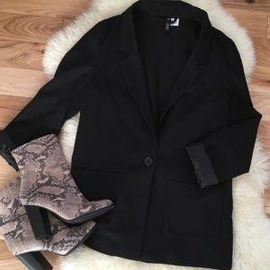 Black H&M Fitted Blazer